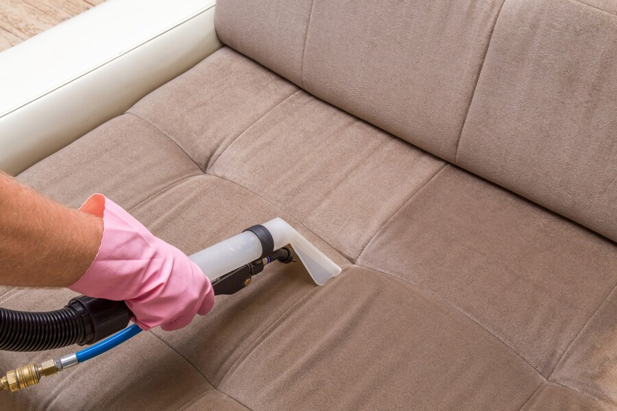 Upholstery cleaning by Colonial Carpet Cleaning